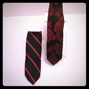 Vintage Black and Red Keckties